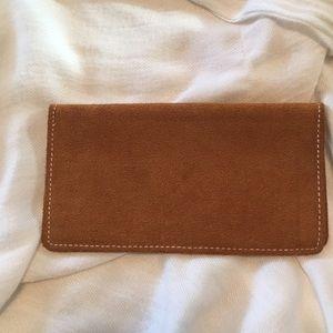 Leather checkbook holder.  Never used.